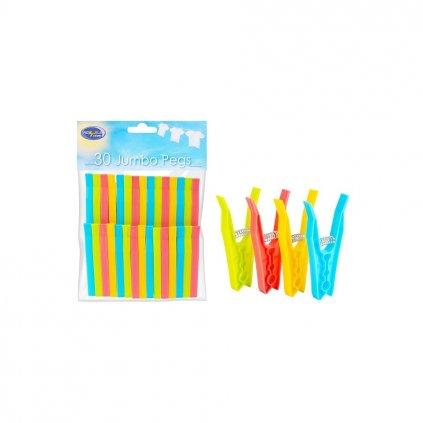Kolíčky na prádlo JUMBO, 30ks - 9cm