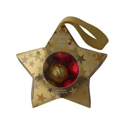 Sůl do koupel 6x15g kuliček v dárkové hvězdě Sparkling Stars