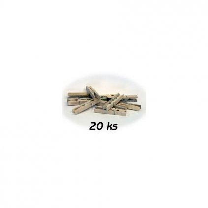 Kolíčky na prádlo dřevěné 36ks