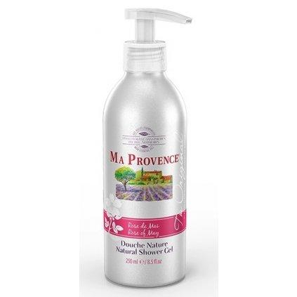 MA PROVENCE Pravý přírodní sprchový gel s vůní KVĚT Růže, 250ml