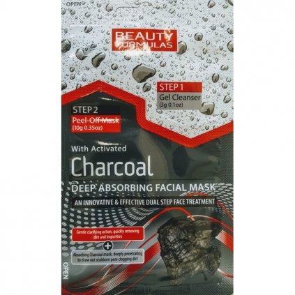 Detoxikační pleťová maska s černým uhlím