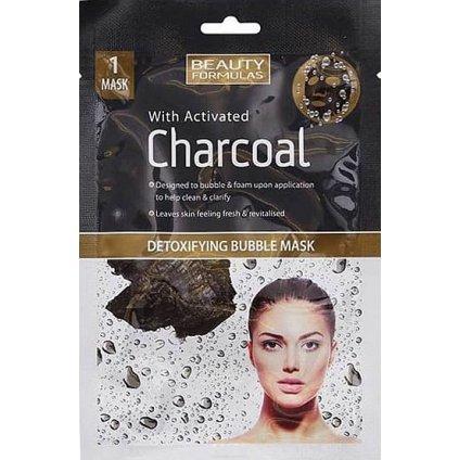 Detoxikační bublinková maska s aktivním černým uhlím