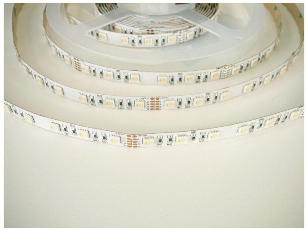 LED pásek RGB-DW - 24V/19,9W, vnitřní, 1 metr