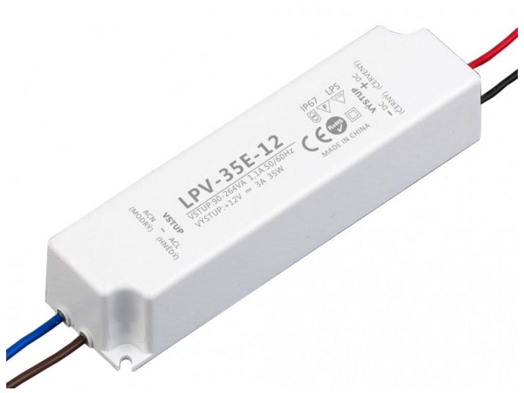 LED zdroj LPV 12V/35W, IP67
