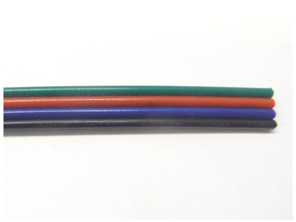 RGB kabel 4x0,5 plochý 1m