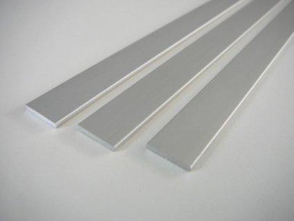 ALU profil plochý ELOX 15x2 a 25x2 mm