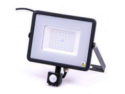 LED reflektor Slimline SAMSUNG 50W IP65 černý s pohybovým čidlem, 4000K