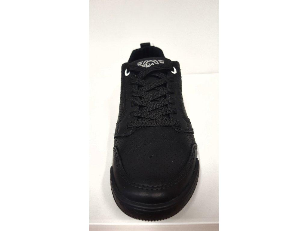 37cc6392145 ... Dámská kožená černá šněrovací vycházková obuv zdravotně tvarovaná na nízkém  klínu SANTÉ   PEGADA ...
