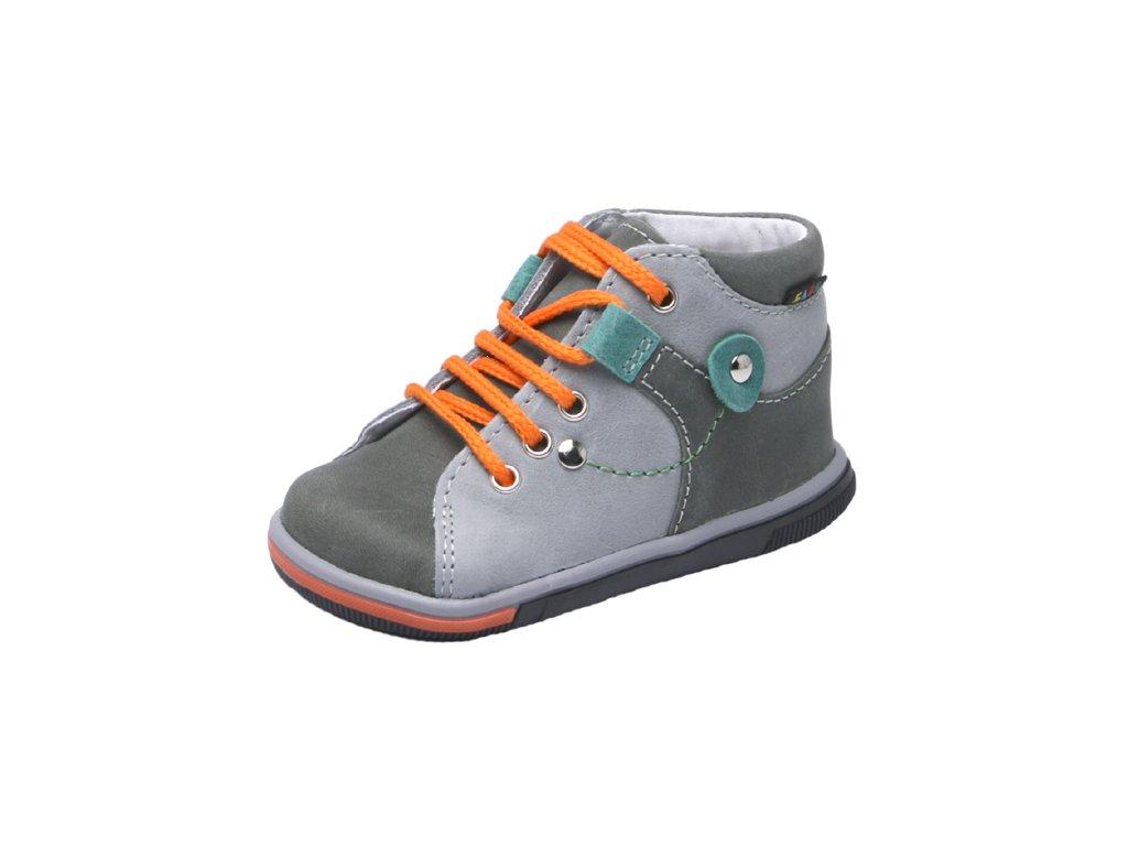Dětská kožená zdravotní celoroční obuv kotníková Fare 2126164
