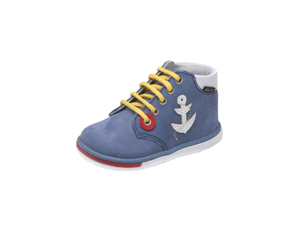 Dětská kožená zdravotní celoroční obuv kotniková FARE 2129107