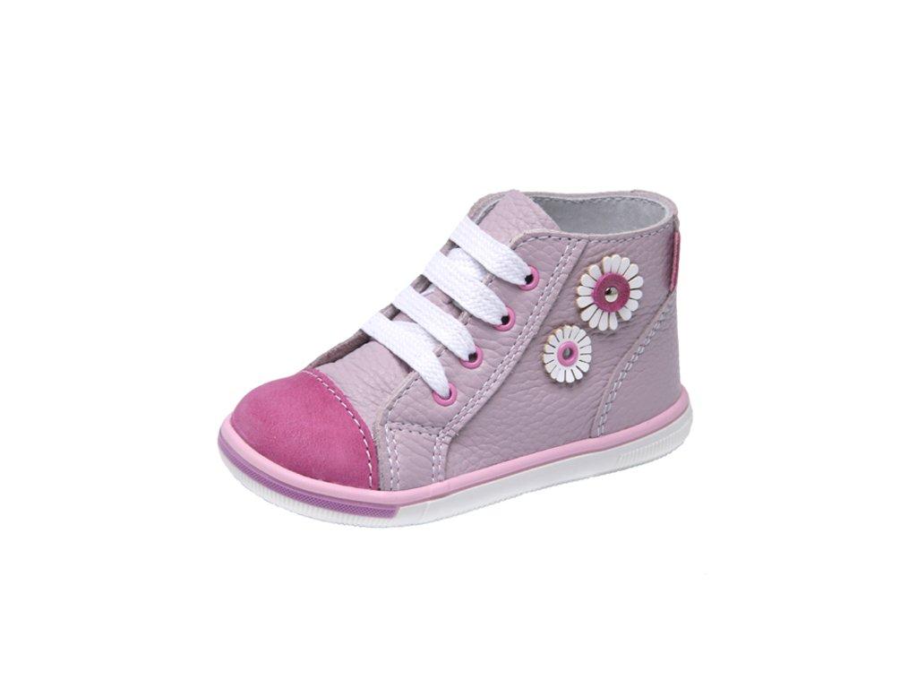 * Dětská kožená zdravotní kotníčková obuv šněrovací Fare 2151157