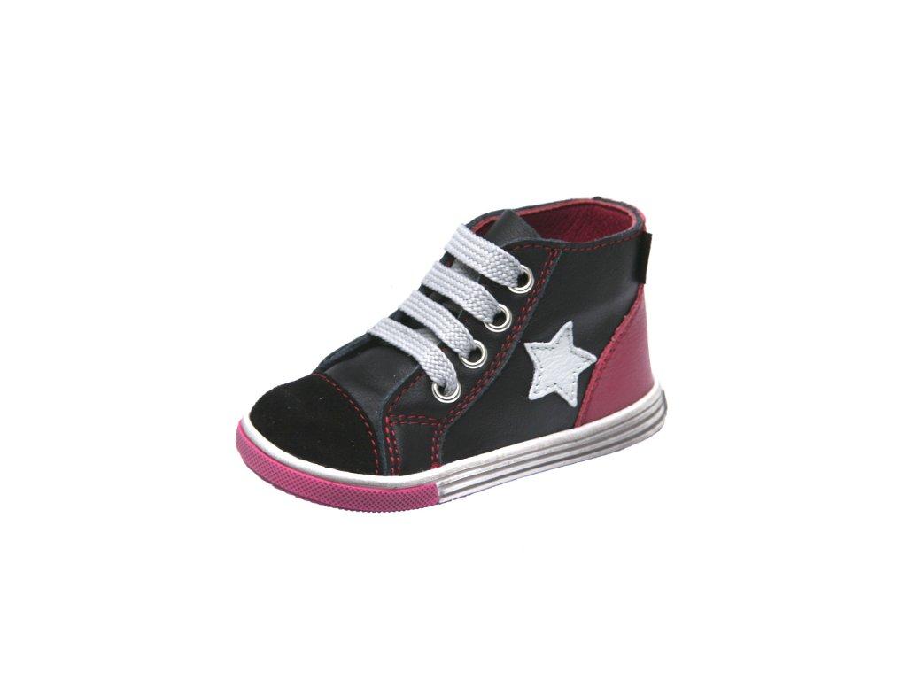 Dětská kožená zdravotní kotníčková obuv šněrovací Fare 2151111