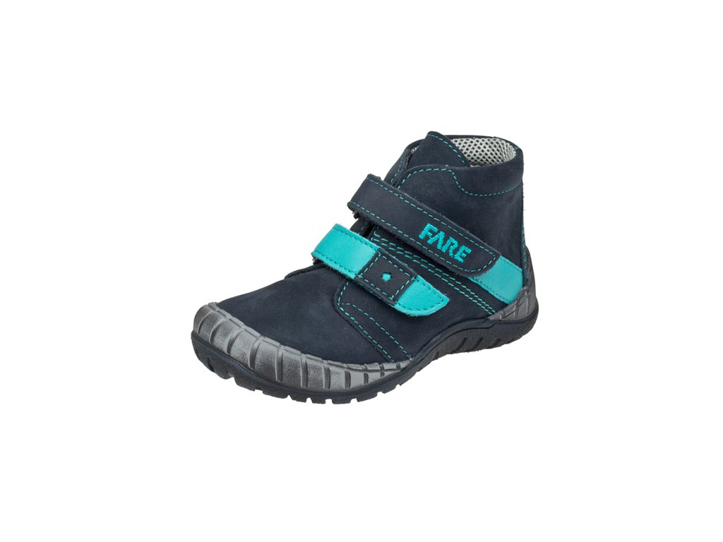 Dětská kožená zdravotní celoroční obuv kotniková FARE 820202