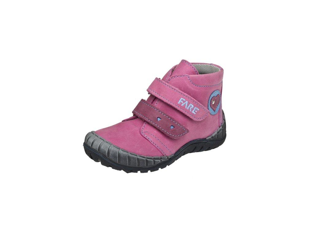 Dětská kožená zdravotní celoroční obuv kotniková FARE 820155