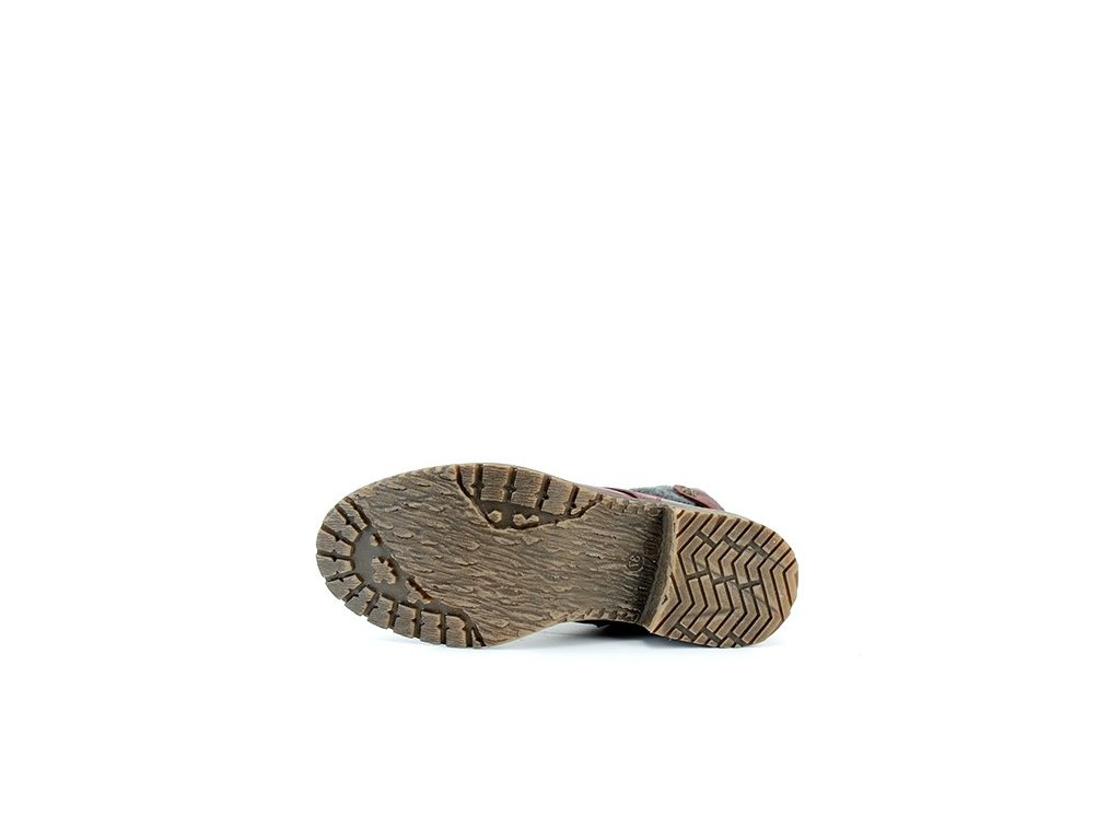 ... Dámská zimní bordo kotníková obuv na nízkém podpatku John Garfield  L0753612 ... 123ec127aa