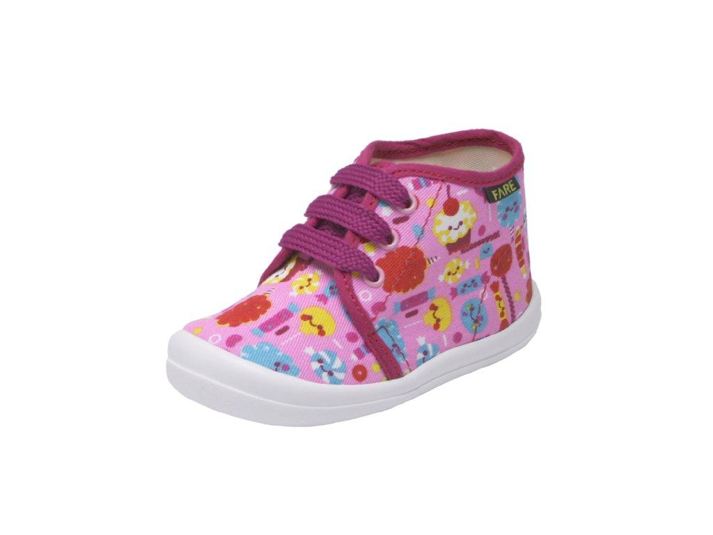 Dětské zdravotní papuče na šněrování - dívčí FARE 4011447