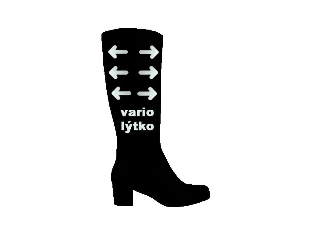 ... elegantní - Polohovací černé přizpůsobivé vario kožené kotníkové boty  na podpatku · vysoke cerne prizpusobive vario kozacky se zipem a gumou pres  lytko ... c1e4a5c473