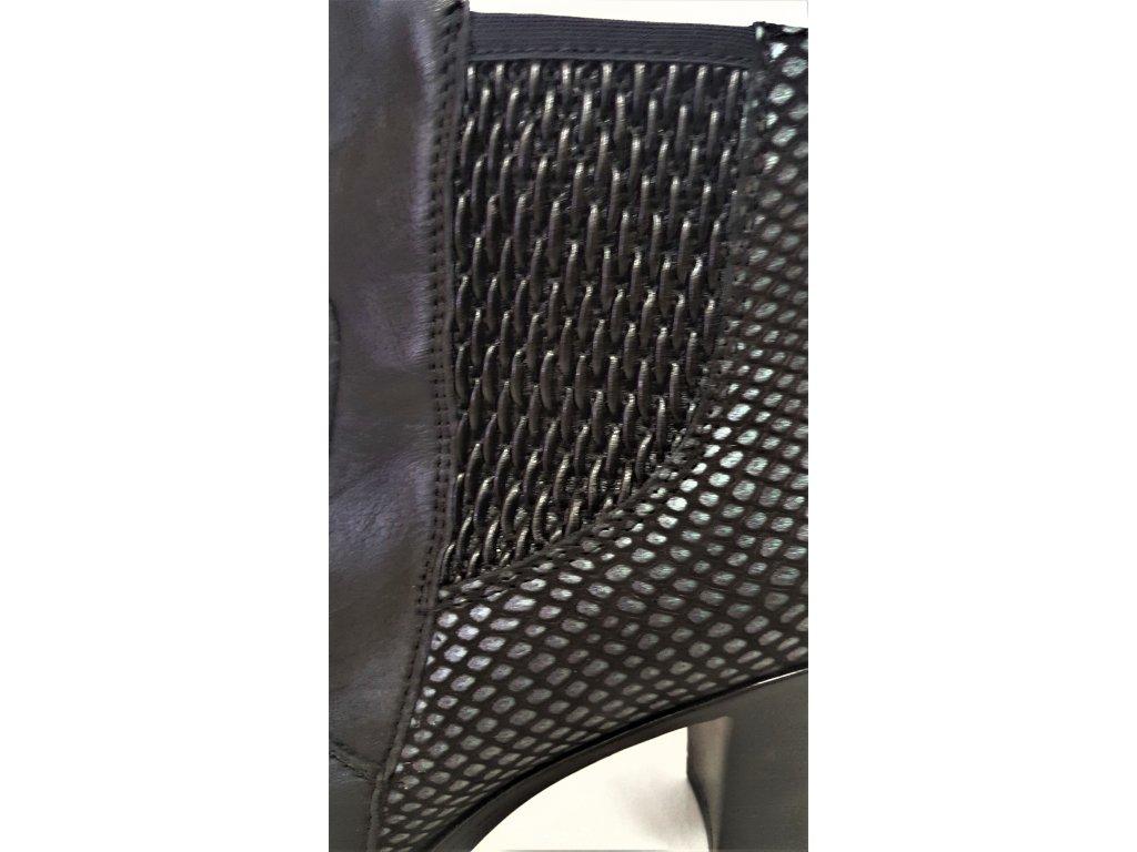 ... VARIO Kozačky na podpatku - elegantní - Polohovací černé přizpůsobivé  vario kožené kotníkové boty na podpatku ... a49c1e2c2d