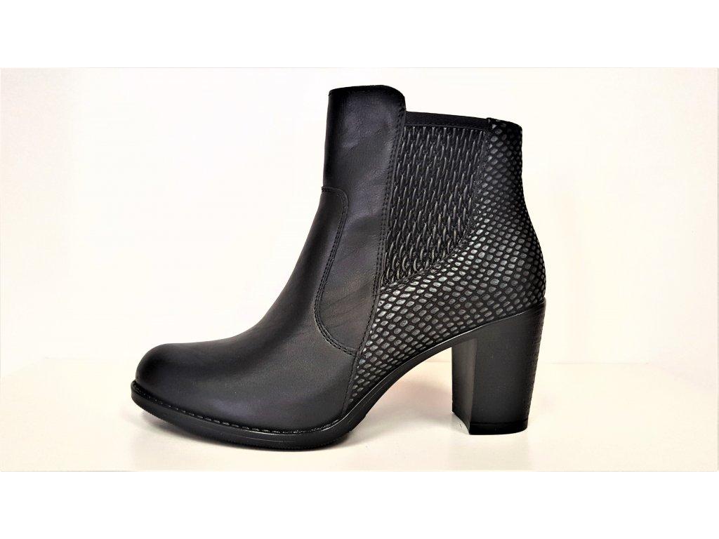 5436 dsci0624 · VARIO Kozačky na podpatku - elegantní - Polohovací černé  přizpůsobivé vario kožené kotníkové boty na podpatku ... 8e560ff5cd