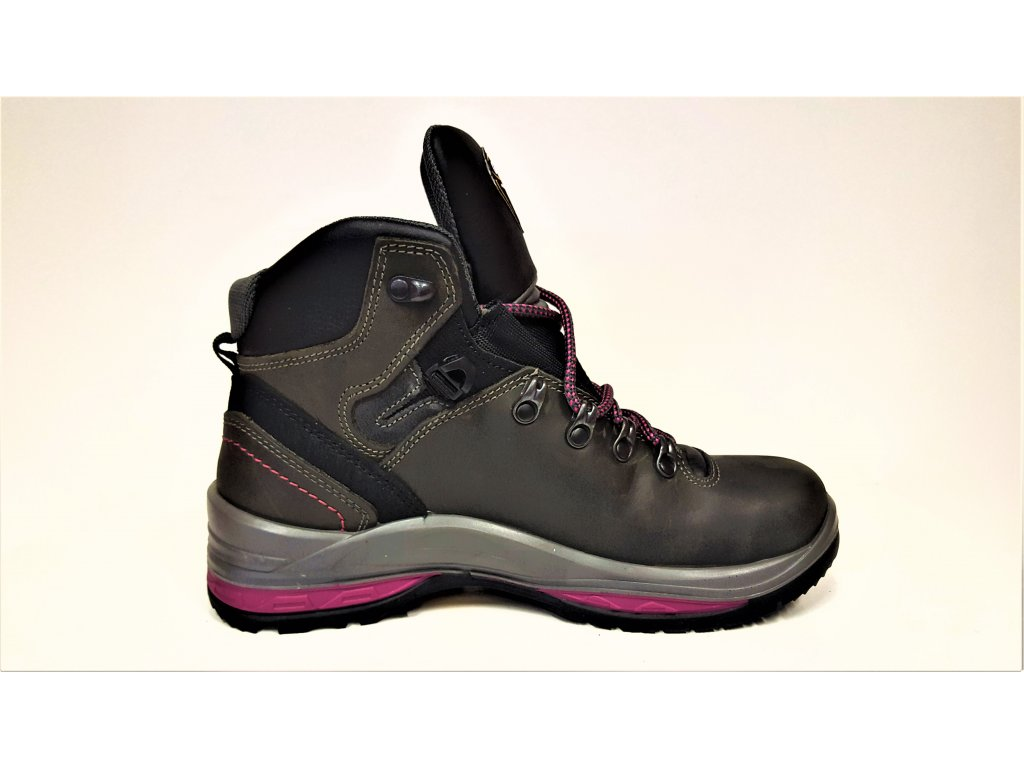 ... LUXUSNÍ TREKOVÁ trekingová dámská obuv - Růžové černé kožené celoroční  nepromokavé trekingové dámské boty s vibram ... f036f2c044