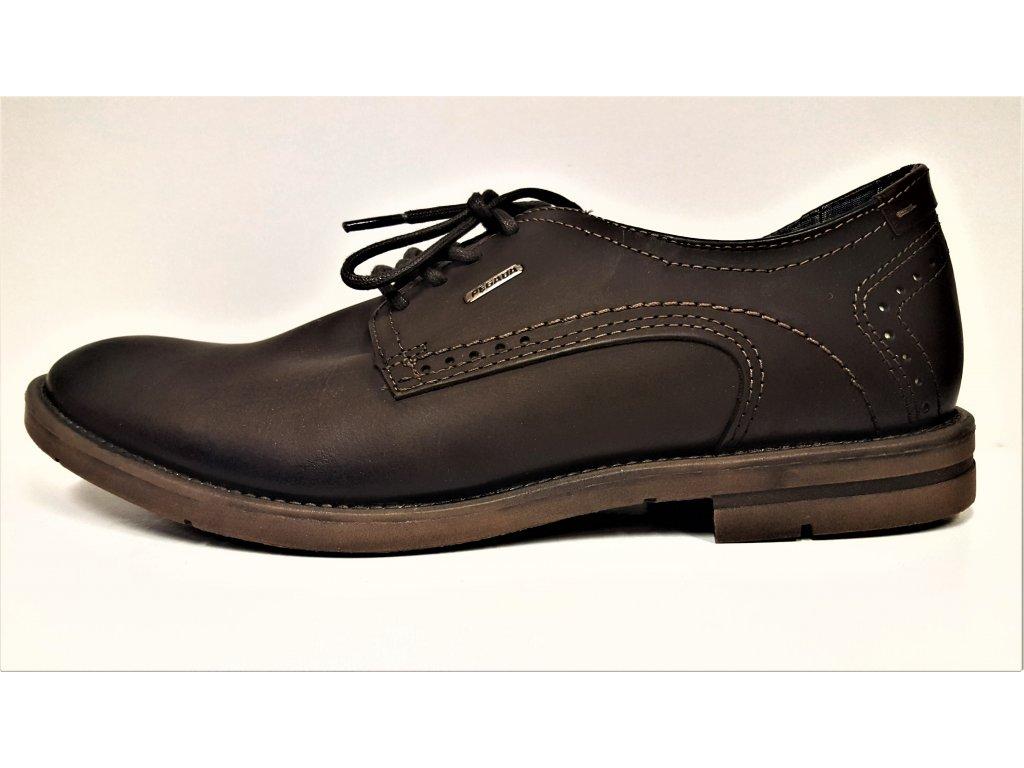 * Pánská kožená tmavě hnědá vycházková obuv PEGDA 00121954
