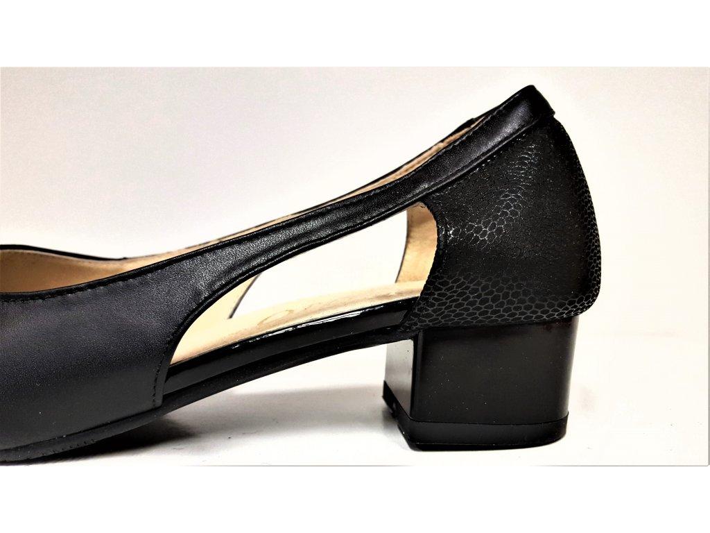 Dámská kožená elegantní černá obuv HUJO J3672 - 1obuv b714984c368