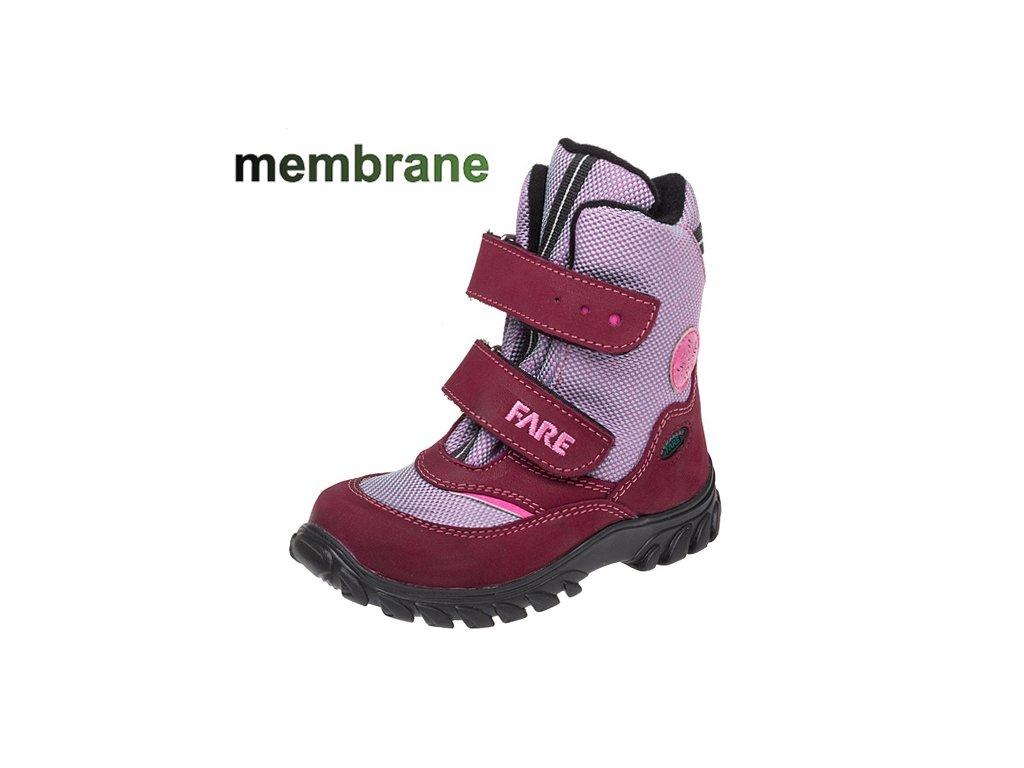 5756 detske zimni membranove boty fare 848192