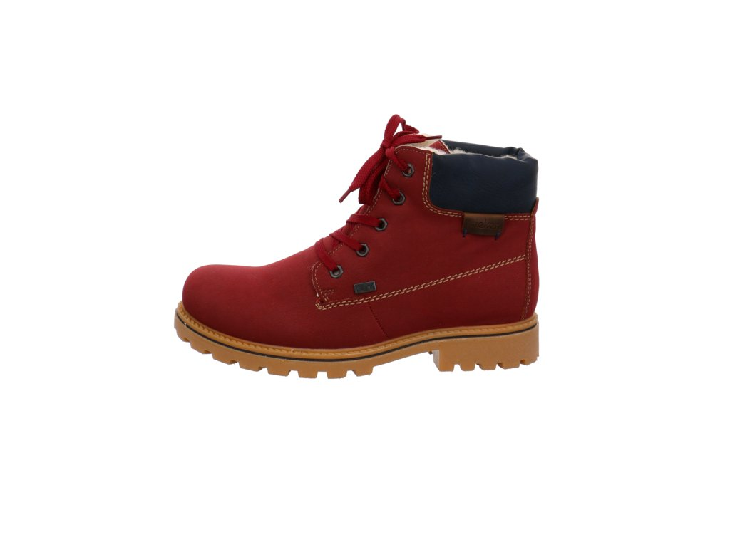 Dámské nepromokavé zateplené kotníkové boty farmářky Rieker s kožíškem výprodej 961786 - Z1420-39