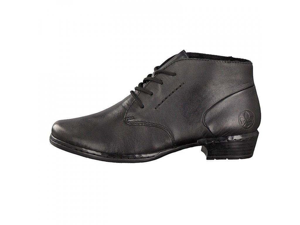 rieker women lace up shoe black 52230 01 7 2