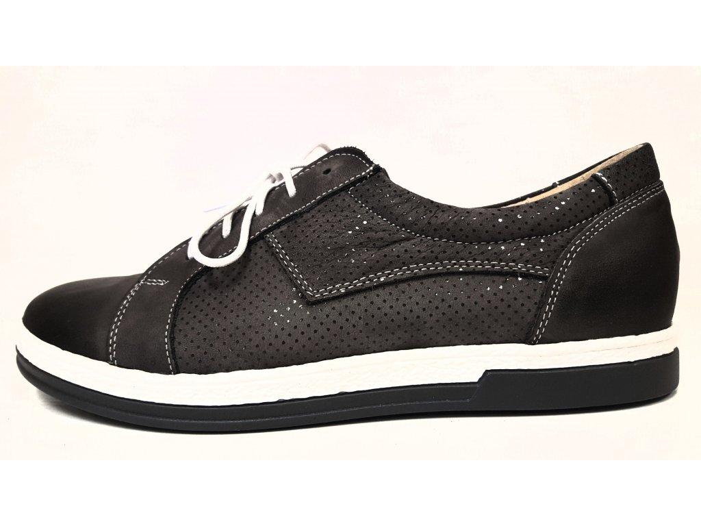 Dámská trendy kožená šedá obuv HUJO J3502