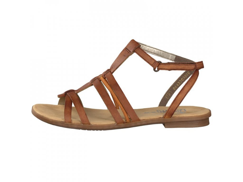 rieker damen sandale braun 64238 24 8 2