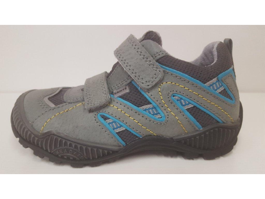 Dětská zdravotní celokožená modrá obuv Sante 401/1.03