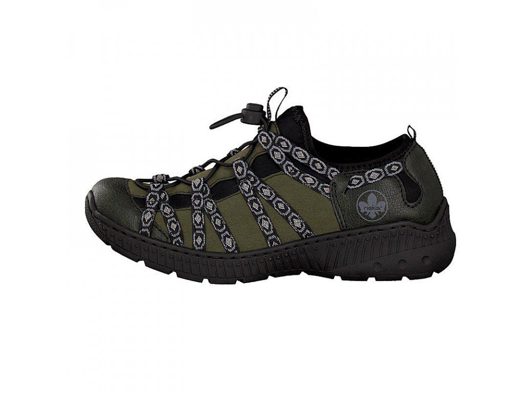 rieker damen sneaker gruen n62n3 54 7 2