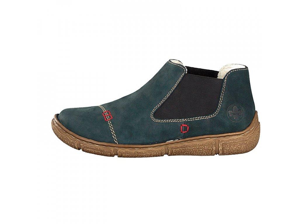 rieker damen boot blau l3790 14 7 2