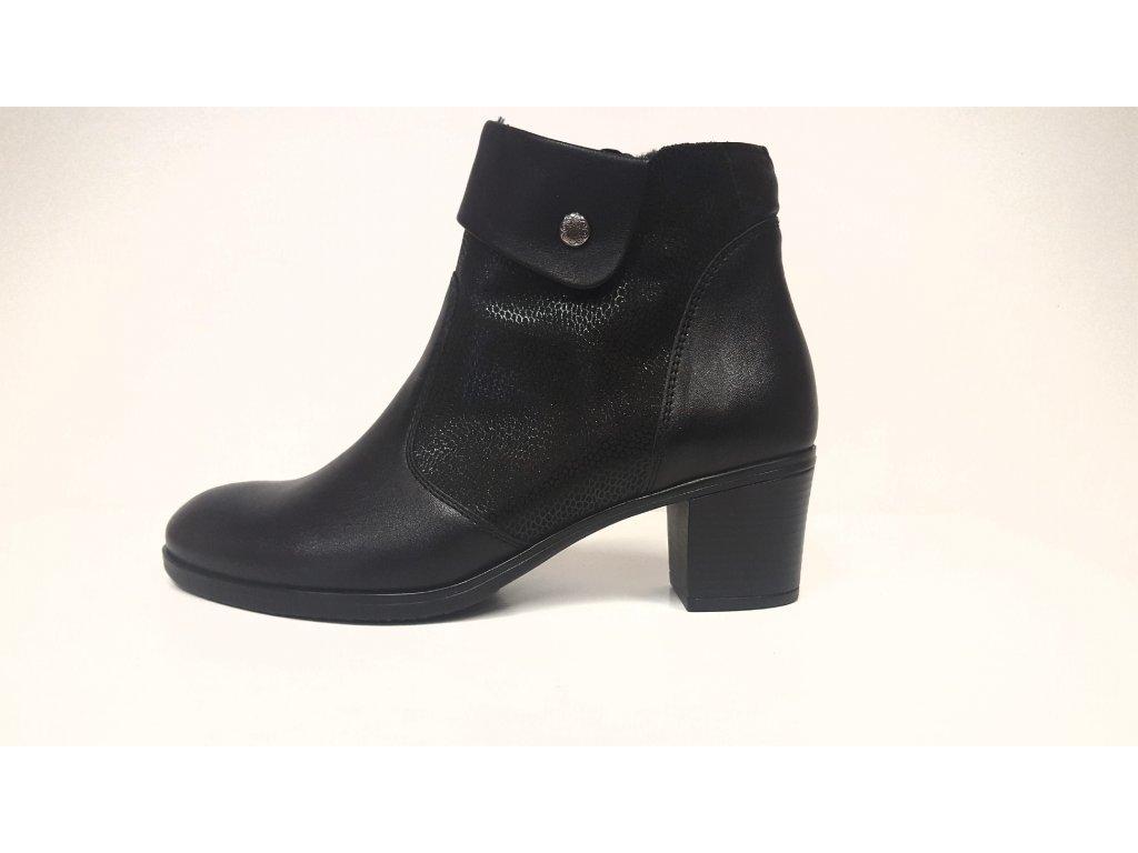 Kožená dámská zimní kotníková obuv JAMI 28017