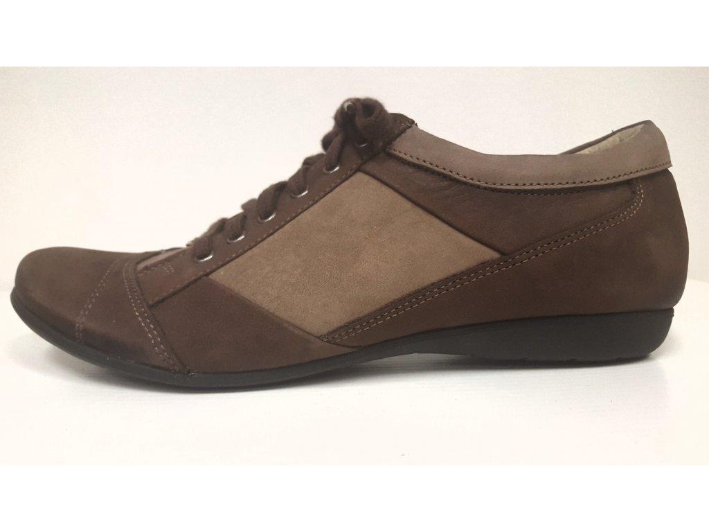 Dámská trendy kožená hnědá obuv HUJO KZ2458