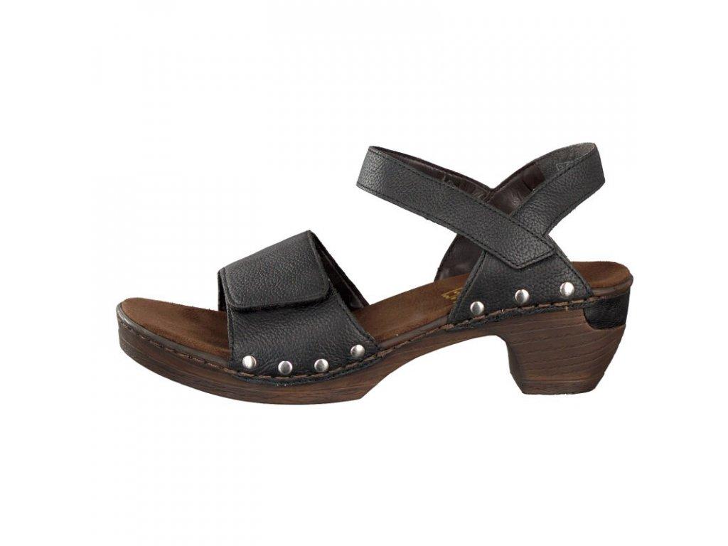 rieker damen sandale schwarz 66863 01 7 2