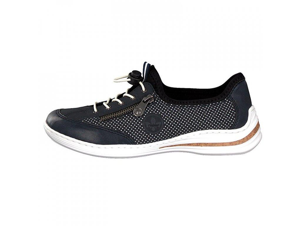 rieker damen sneaker blau m3569 14 2
