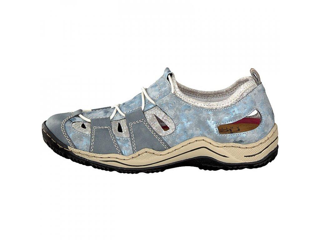 rieker damen sneaker blau l0561 12 8 2