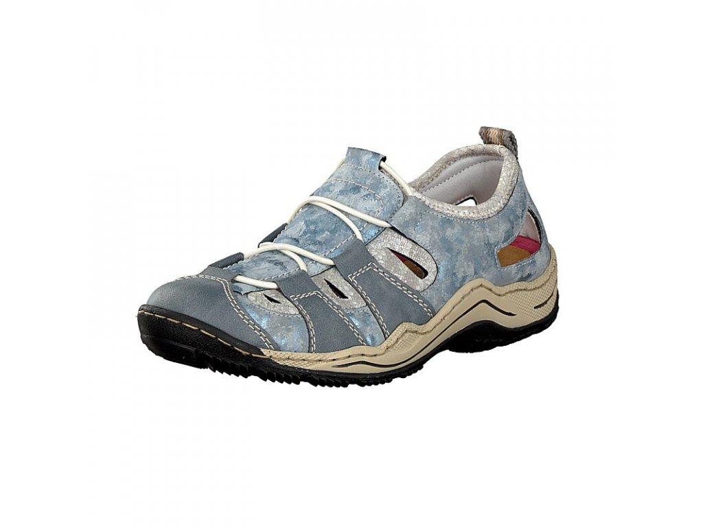 rieker damen sneaker blau l0561 12 8