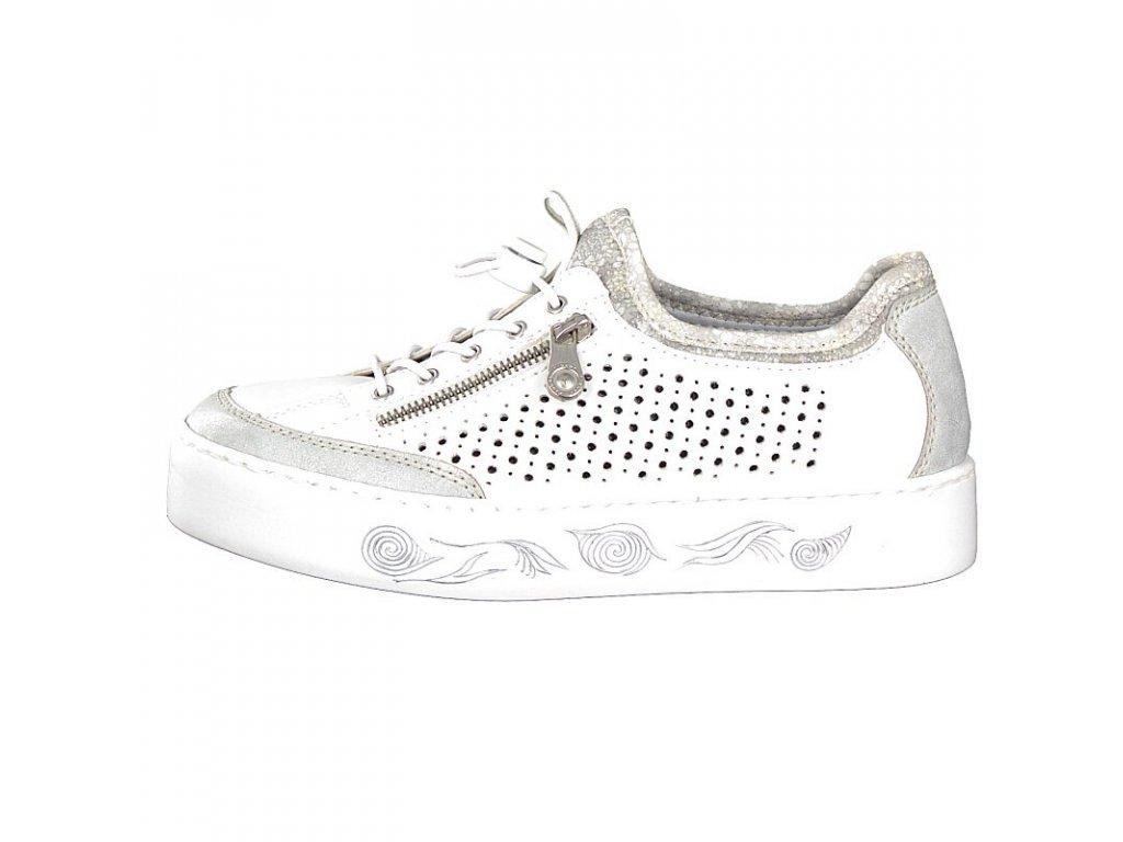 rieker damen sneaker weiss n3786 80 3 2