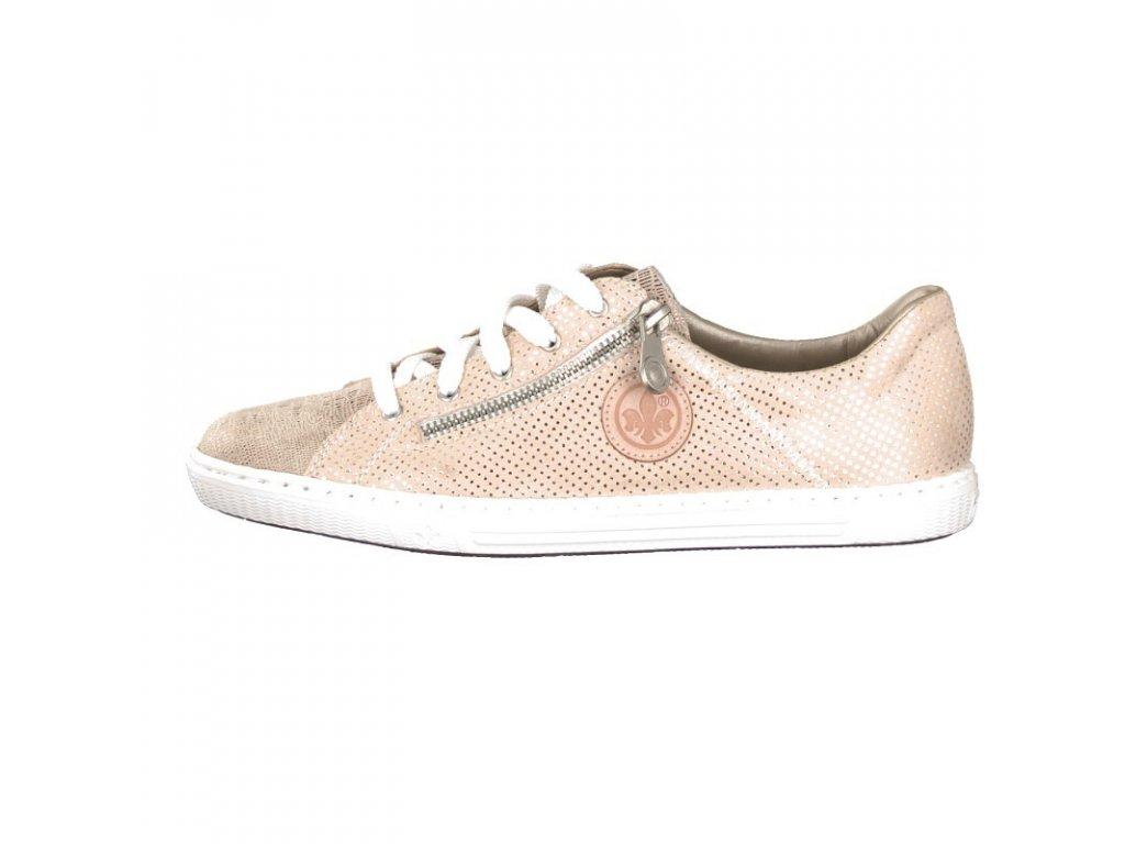 rieker damen sneaker rosa l0943 62 7 2