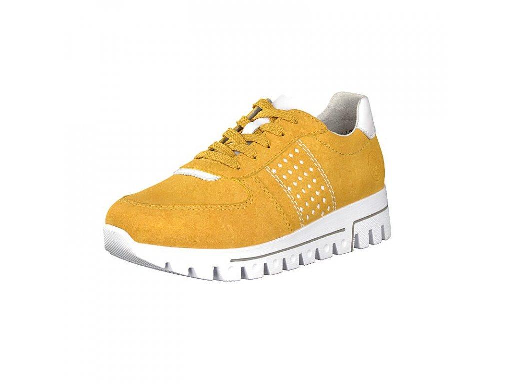 rieker damen sneaker gelb l2820 68 7