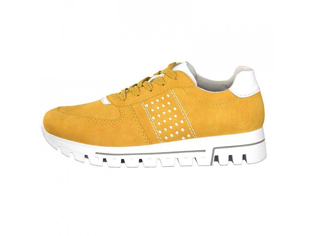 rieker damen sneaker gelb l2820 68 7 2
