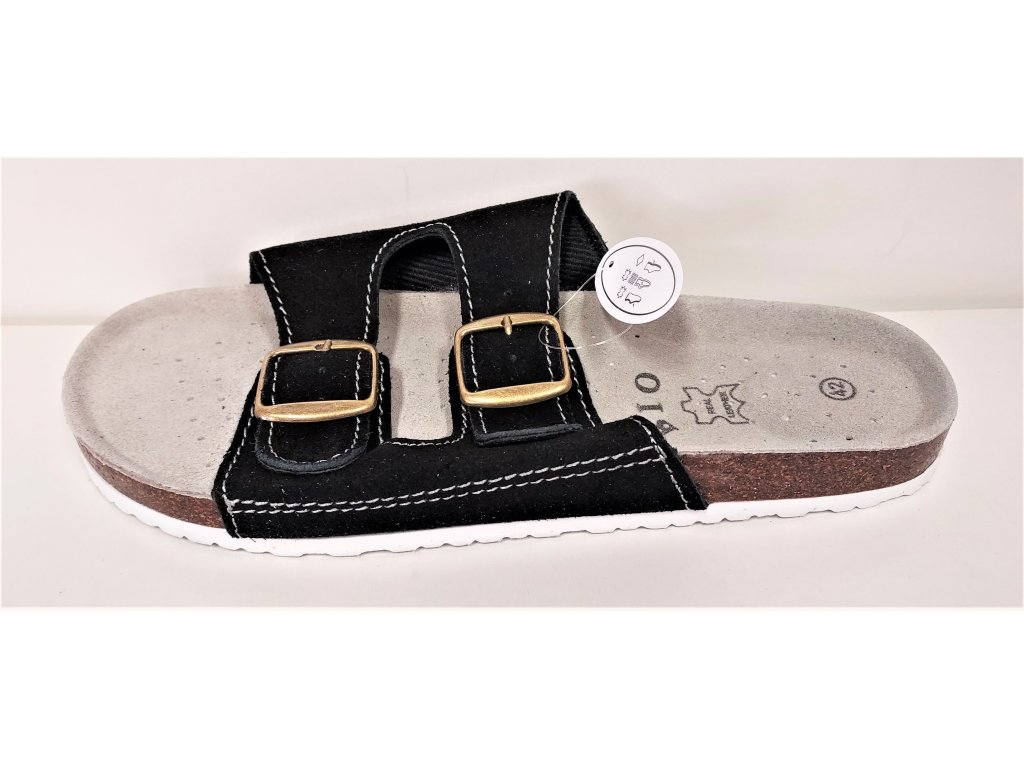 Zdravotní kožená obuv pánská černá