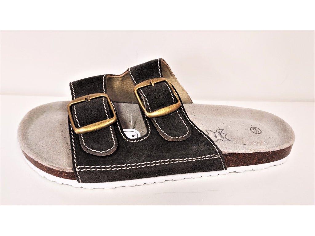 Zdravotní obuv kožená tmavě hnědá
