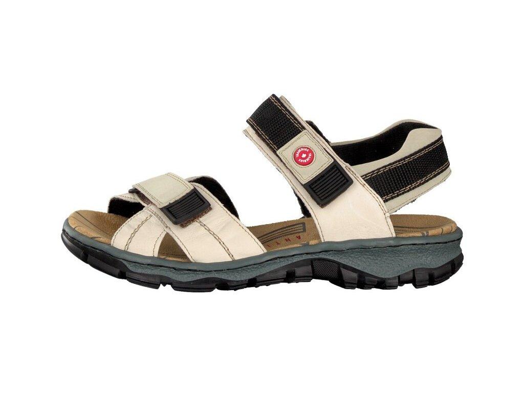 rieker damen sandale beige 68851 60 7 2