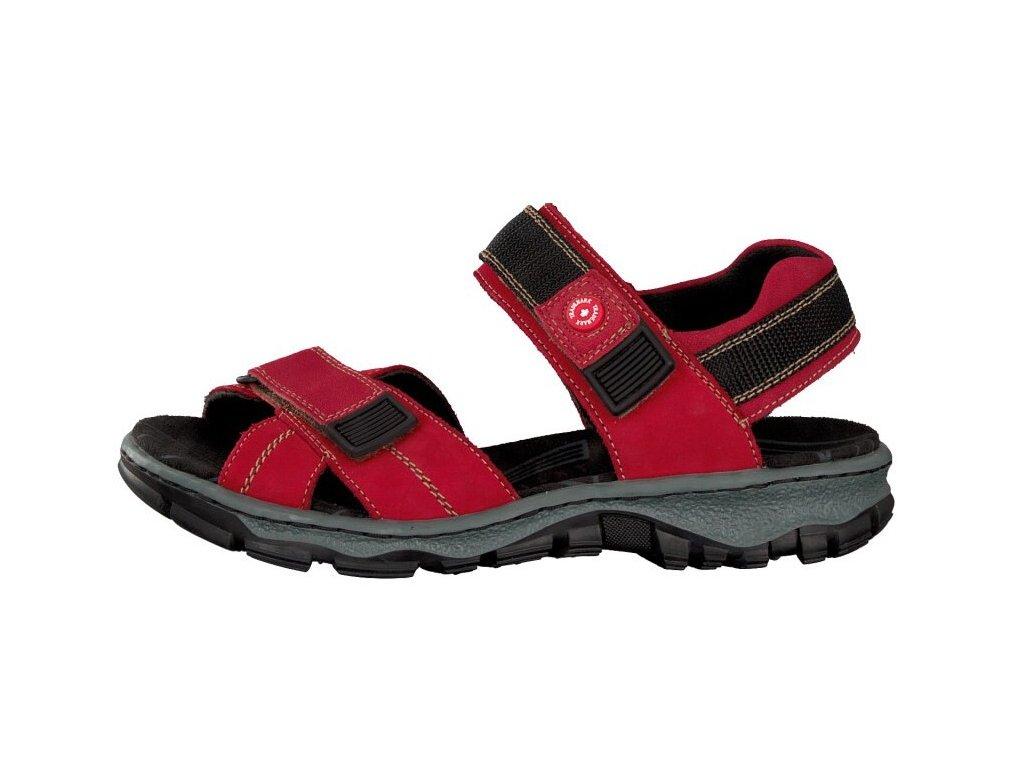 rieker damen sandale rot 68851 33 7 2