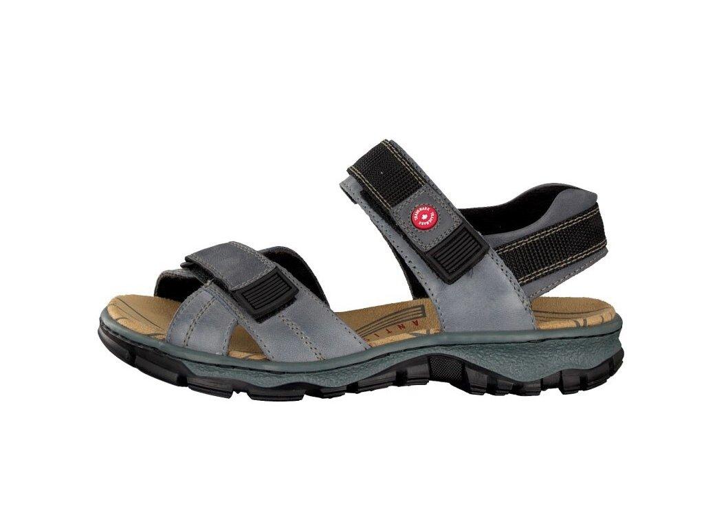 rieker damen sandale blau 68851 12 7 2