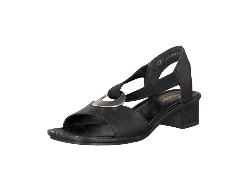 rieker damen sandalette schwarz 62662 01 7